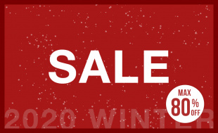 【MAX80%OFF 】 2020 WINTER SALE